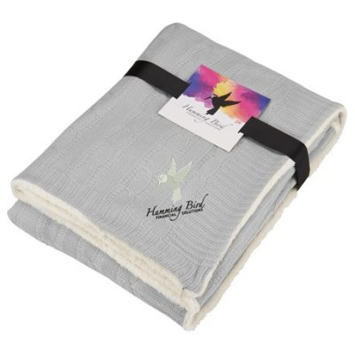Field & Co.® Cable Knit Sherpa Blanket with Card