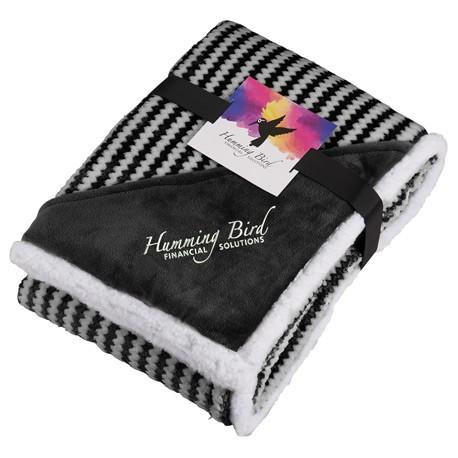 Field & Co.® Chevron Striped Sherpa Blanket w/Card